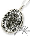 Sterling Silver Extra Large Marcasite Locket on 24 inch chai