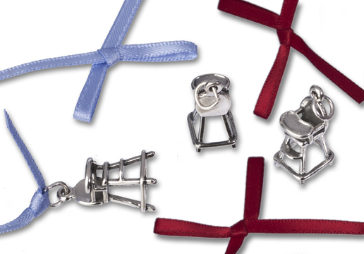 sterling silver high chair charm