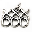 kisses and hugs wedding cake charms