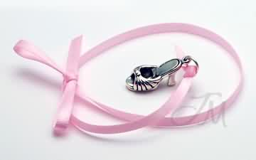 sterling silver High heel shoe charm