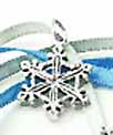 snowflake wedding cake charms