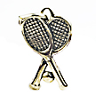 tennis racquet wedding cake charms